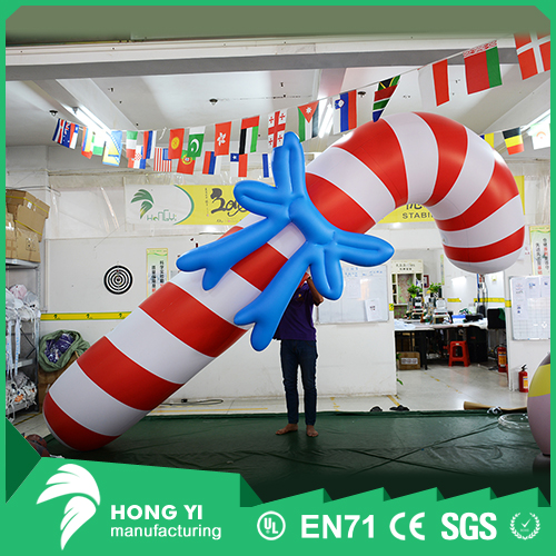New product personality Christmas decoration inflatable Christmas tie lift candy cane
